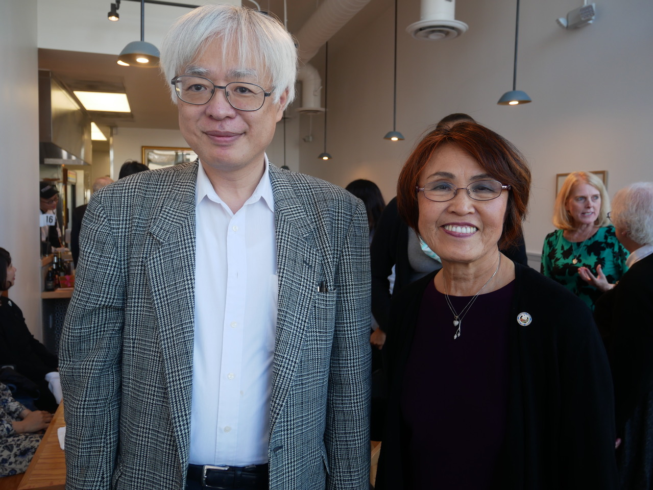 Teruko_Weinberg(The Chair) and Mr. Matsuo (Deputy Consul general)